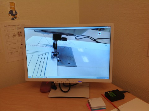 Dokumentkamerans bild i datorns bildskärm