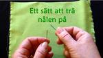 Trä nålen