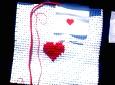 Hjärta med korsstygn